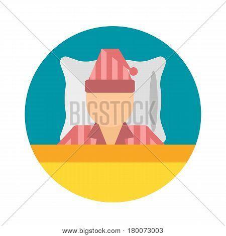 Sleep time pajamas icon flat isolated vector illustration. Sleep icon sweat dream pyjamas. Night rest human sleepwear icon