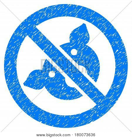 Grunge Banned Pig rubber seal stamp watermark. Icon symbol with grunge design and dirty texture. Unclean vector blue emblem.
