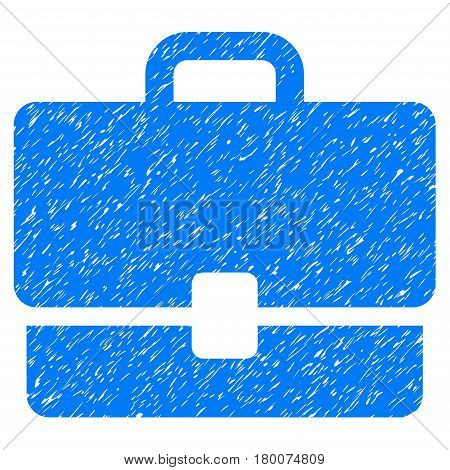 Grunge Case rubber seal stamp watermark. Icon symbol with grunge design and scratched texture. Unclean vector blue sign.