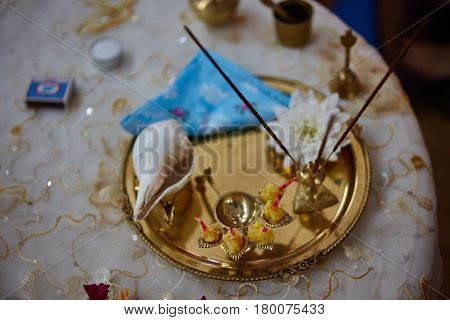 Puja Parafernalia For Worship Krishna