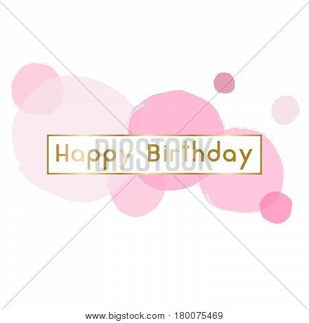 Birthday greeting card design with text