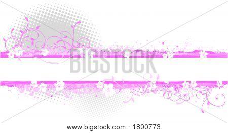 Pink Banner Illustration