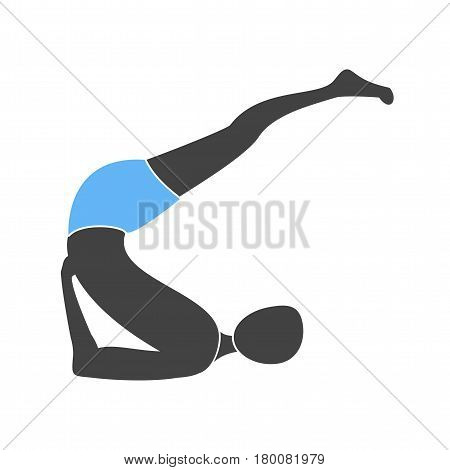 shoulder stand icon vector image. Can also be used for yoga poses. Suitable for mobile apps, web apps and print media.
