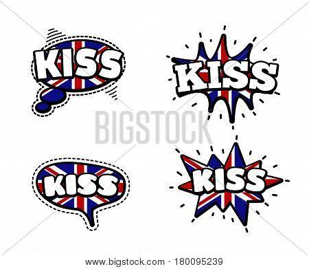 Kiss Speech Bubbles