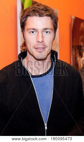 Moscow, Russia - Dec 1, 2010: Marat Safin has visited an exhibition at the Art Fair