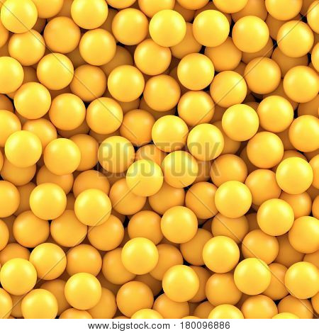 Yellow balls background. Vector illustration Eps 10