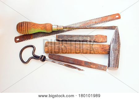 Old rusty tools must be replaced with new ones.