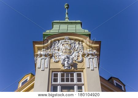 Historical Decorated Facade In The Center Of Stade