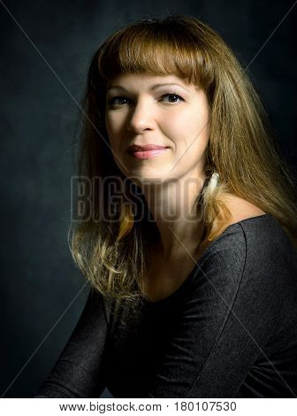 Portrait of a girl in the classic style of Rembrandt