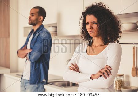 Afro American Couple In Kitchen