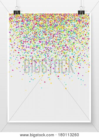 Confetti Poster Binder Clip Holiday Celebration Mock Up Star Heart 1