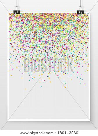Confetti Poster Binder Clip Holiday Celebration Mock Up Star Heart 1