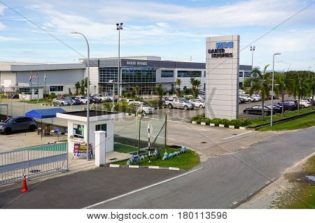 Labuan,Malaysia-Apr 5,2017:Baker Hughes oil & gas company office in Labuan,Malaysia.Baker Hughes is an American industrial service company,it is one of the world's largest oil field services companies.