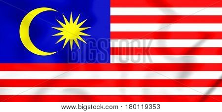 3D Flag Of The Malaysia.