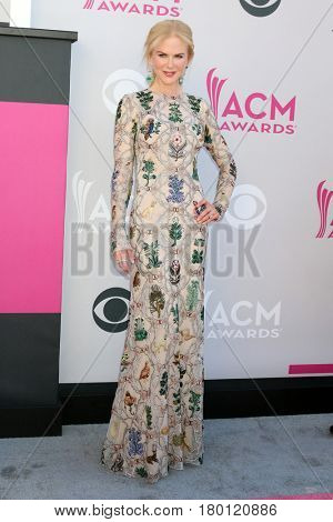 LAS VEGAS - APR 2:  Nicole Kidman at the Academy of Country Music Awards 2017 at T-Mobile Arena on April 2, 2017 in Las Vegas, NV