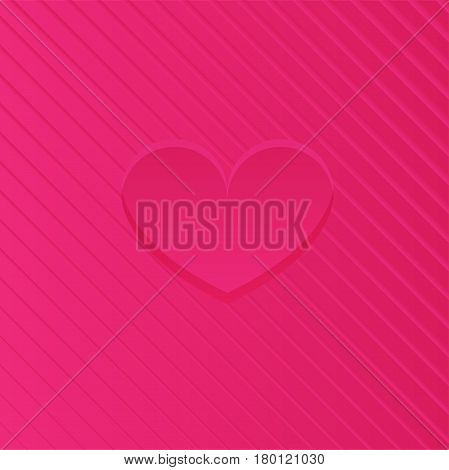 Abstract Pink Heart Design - Vector illustration template