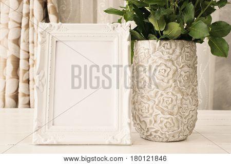 White Frame Mock Ups, Digital Mockup, Display Mockup, Sea Styled Stock Photography Mockup, Colorful