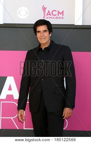 LAS VEGAS - APR 2:  David Copperfield at the Academy of Country Music Awards 2017 at T-Mobile Arena on April 2, 2017 in Las Vegas, NV
