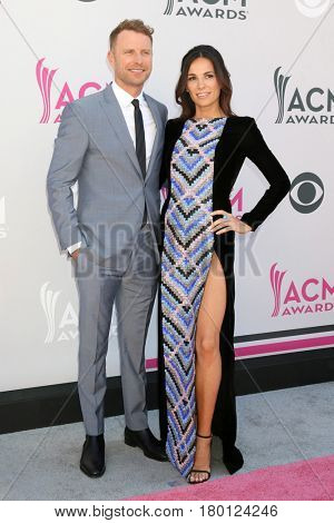 LAS VEGAS - APR 2:  Dierks Bentley, Cassidy Black at the Academy of Country Music Awards 2017 at T-Mobile Arena on April 2, 2017 in Las Vegas, NV