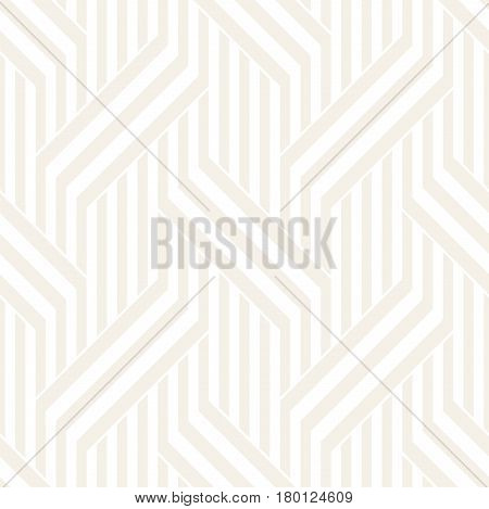 Vector Seamless Pattern. Modern Stylish Interlacing Lines Texture. Geometric Striped Ornament. Subtle Linear Braids