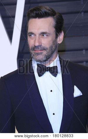 LOS ANGELES - FEB 26:  Jon Hamm at the 2017 Vanity Fair Oscar Party  at the Wallis Annenberg Center on February 26, 2017 in Beverly Hills, CA