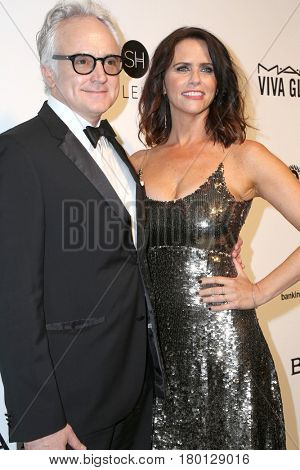 LOS ANGELES - FEB 26:  Bradley Whitford, Amy Landecker at the Elton John Oscar Viewing Party 2017 at the City of West Hollywood Park on February 26, 2017 in West Hollywood, CA