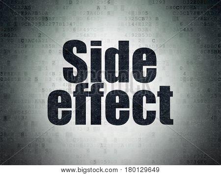 Medicine concept: Painted black word Side Effect on Digital Data Paper background