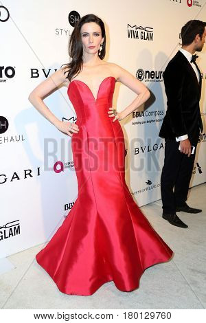 LOS ANGELES - FEB 26:  Bitsie Tulloch at the Elton John Oscar Viewing Party 2017 at the City of West Hollywood Park on February 26, 2017 in West Hollywood, CA