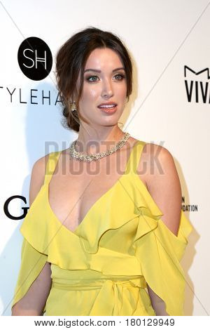 LOS ANGELES - FEB 26:  Melissa Bolona at the Elton John Oscar Viewing Party 2017 at the City of West Hollywood Park on February 26, 2017 in West Hollywood, CA