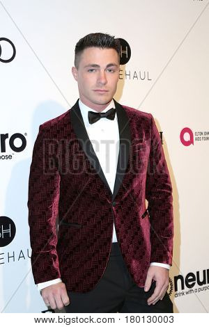 LOS ANGELES - FEB 26:  Colton Haynes at the Elton John Oscar Viewing Party 2017 at the City of West Hollywood Park on February 26, 2017 in West Hollywood, CA