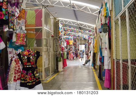 OAXACA, MEXICO- MARCH 11, 2017: View of a traditional market in Oaxaca, Mexico on march 11, 2017