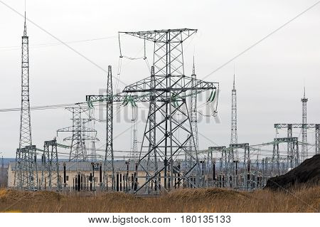 Electricity transmission High voltage power lines and towers, electric station