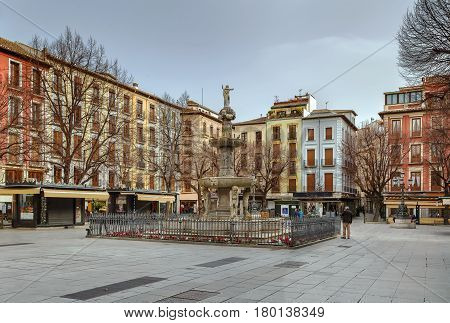 Plaza Bib Rambla with Gigantones Fountain Granada Spain