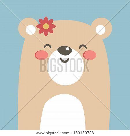 Cool and cute bear illustration. Cartoon bear. Vector stock.