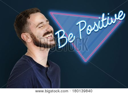 Be Positive Optimistic Attitude Word