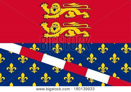 Flag of Eure is a department in Normandy is a Region in the north of France. Vector illustration