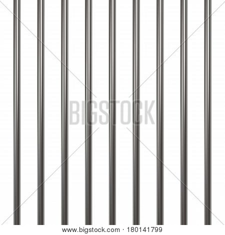 Prison bars isolated on white. Vector illustration.