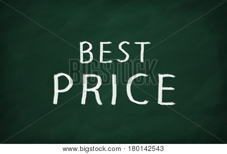On The Blackboard With Chalk Write Best Price