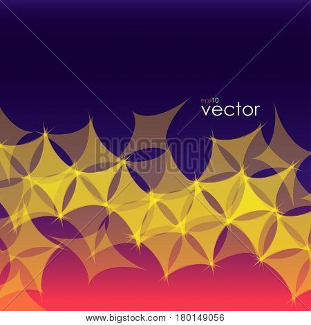 Abstract background of yellow extended cubes on gradient backdrop