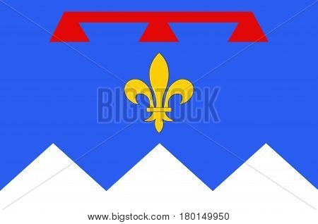 Flag of Alpes de Haute Provence is a French department in the south of France. Vector illustration