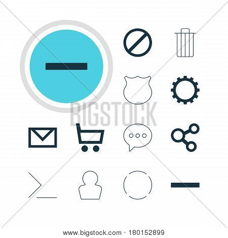 Vector Illustration Of 12 Member Icons. Editable Pack Of Avatar, Garbage, Letter And Other Elements.