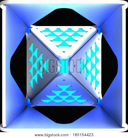 Decorative light abstract backgrounds. Art object. 3D illustration