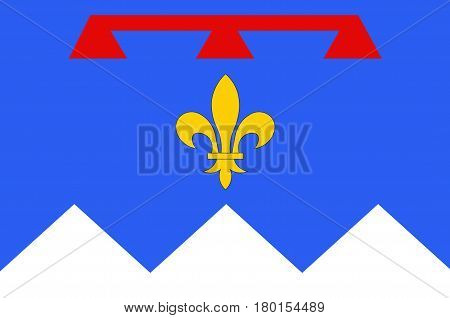 Flag of Alpes de Haute Provence is a French department in the south of France