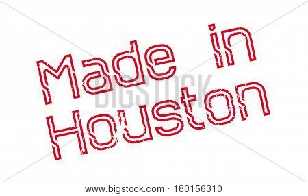 Made In Houston rubber stamp. Grunge design with dust scratches. Effects can be easily removed for a clean, crisp look. Color is easily changed.