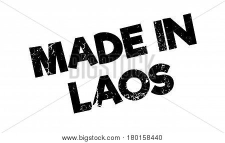 Made In Laos rubber stamp. Grunge design with dust scratches. Effects can be easily removed for a clean, crisp look. Color is easily changed.