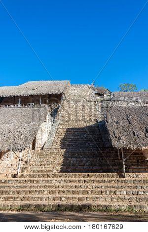 Ek Balam Pyramid View