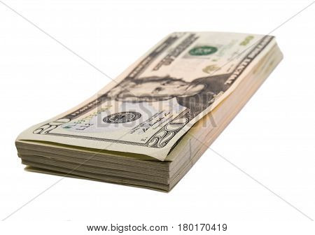 Money; Banknotes; Banknotes isolated on white background