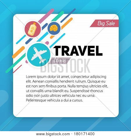 Travel background. Easy to edit design template.