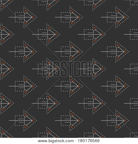 Abstract Seamless Background With Elements In Cybernetic Style.