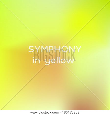 Square background with symphony in yellow colors with quoatation.